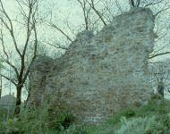 Árpád-kori templomrom | 2014. november 30.  vasárnap | A megmaradt faldarab az 1980-as években. Fotó: Avramov András