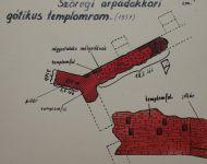 Árpád-kori templomrom | 2014. november 30.  vasárnap | Somorjai Ferenc 1957-ben készült felmérése a szőregi templomromról