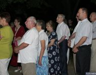 Fénypompában a szőregi Emese-kút | 2013. augusztus 20.  kedd | Fotó: Gémes Sándor / a szegedma.hu engedélyével