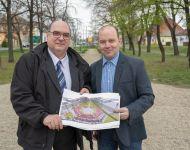 Rózsakert népszerűsíti majd Szőreget a Hősök terén | 2019. április 5.  péntek | Fotó: Iványi Aurél, szeged.hu