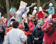 Télűző maszkot készítettek, kiszebábot égettek Szőregen | 2014-02-27