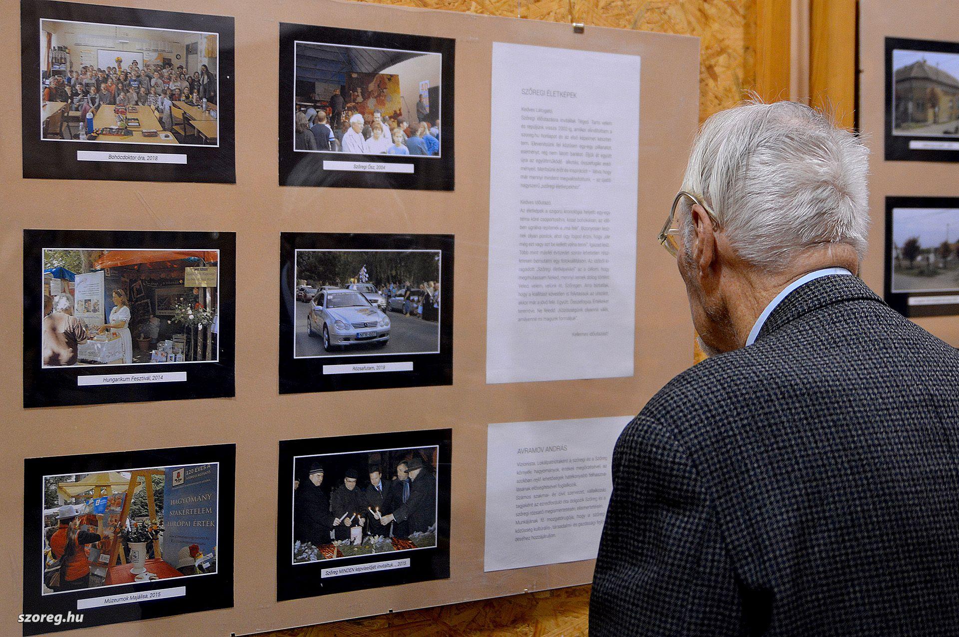 Évtizedes időutazás képeiből nyílt kiállítás Szőregen