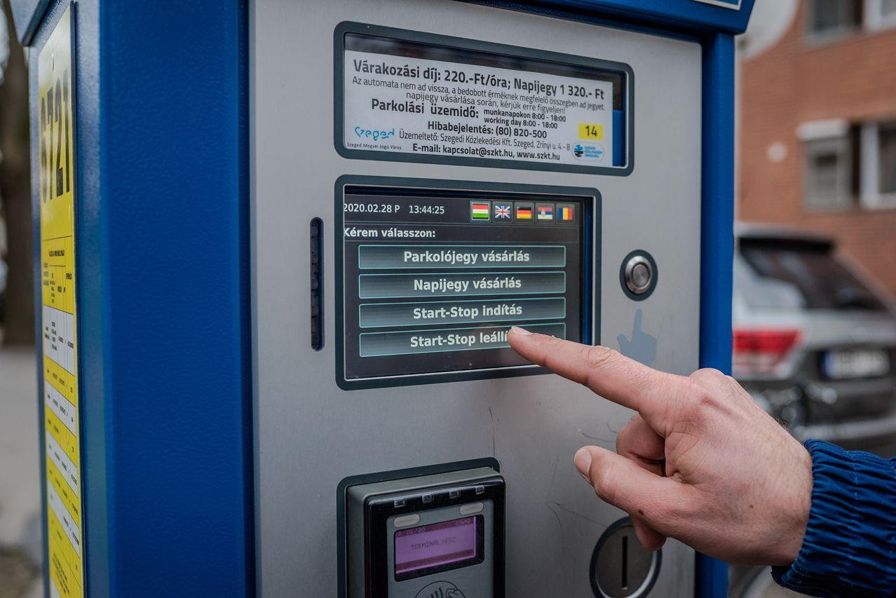 Elindult a bankkártyás start-stop-parkolás Szegeden