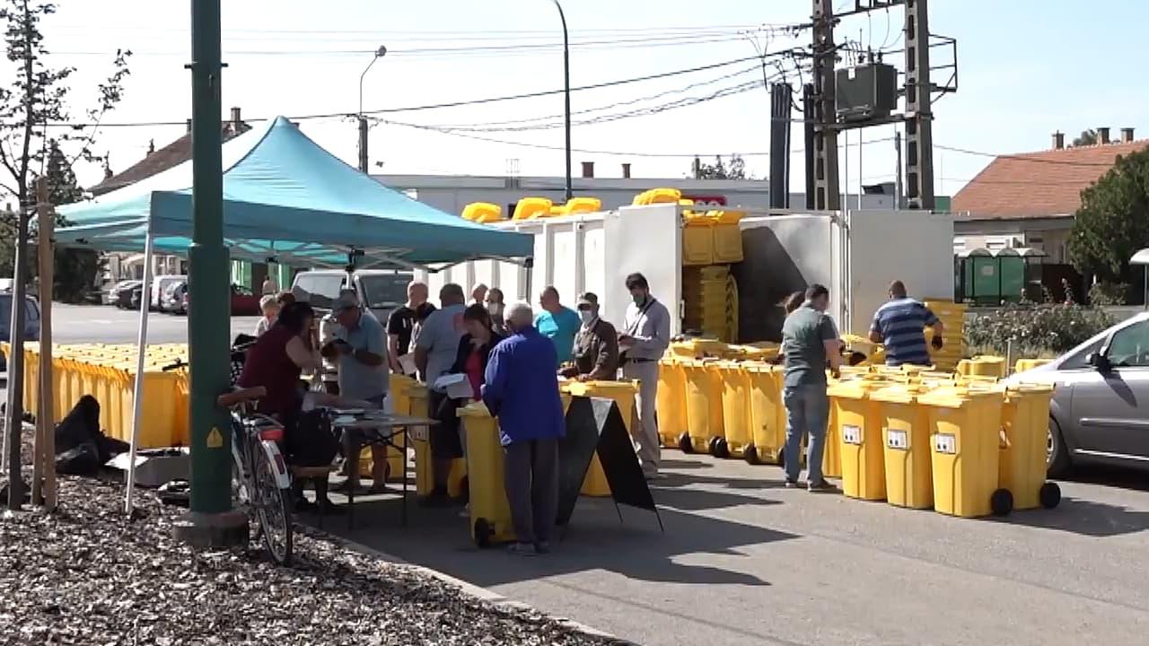 Sárga kukák: újra osztotta az edényeket a hulladékgazdálkodás